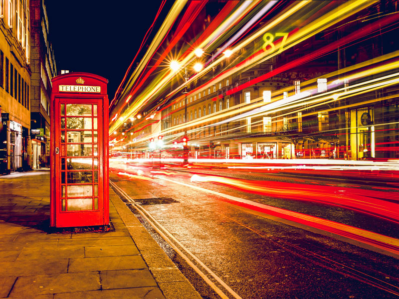 london telephone booth long exposure lights 6618